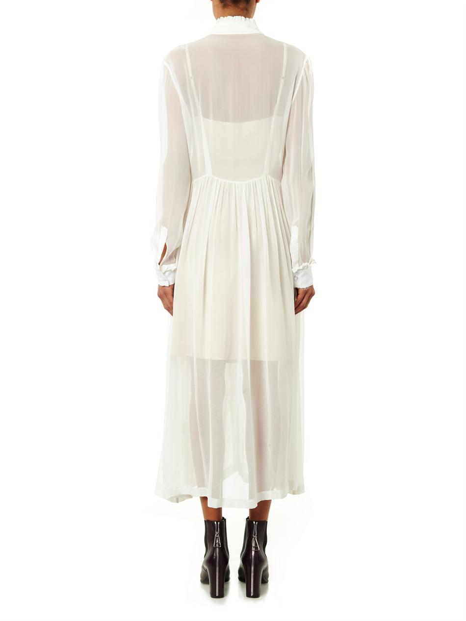 Barton silk-georgette sheer dress | Preen by Thornton Bregazzi...