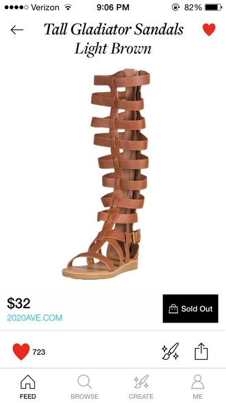 shoes light brown knee high gladiator sandals