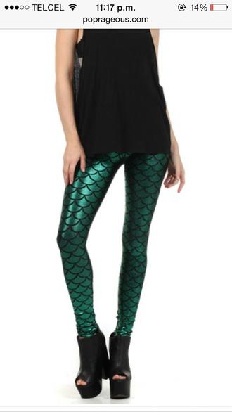jeans mermaid leggings