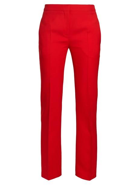 Alexander Mcqueen red pants