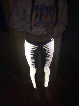 leggings nike tights glow in the dark
