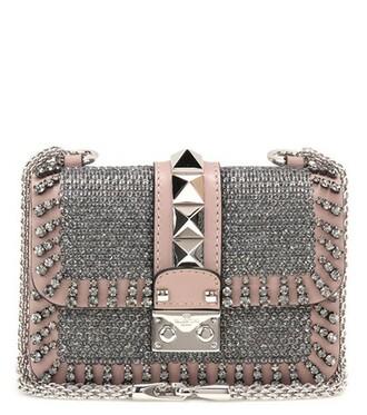 mini embellished bag shoulder bag leather beige