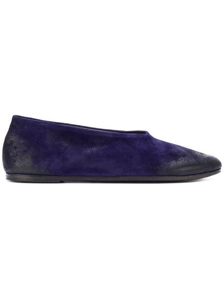 Marsèll women leather blue suede shoes