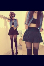 shoes,jeans,no sleeves,crop tops,strapless,black,stripes,ankle boots,pants