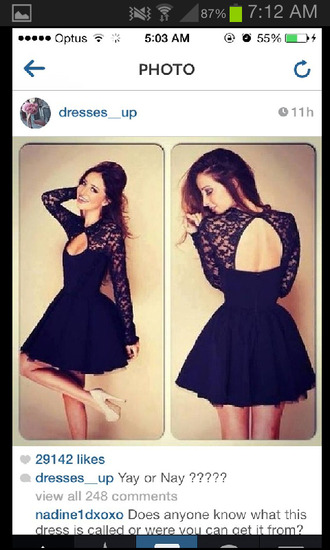 dress black prom dress lace short skirt homecoming dress homecoming