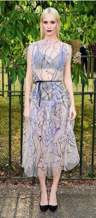 dress midi dress poppy delevingne sheer summer dress