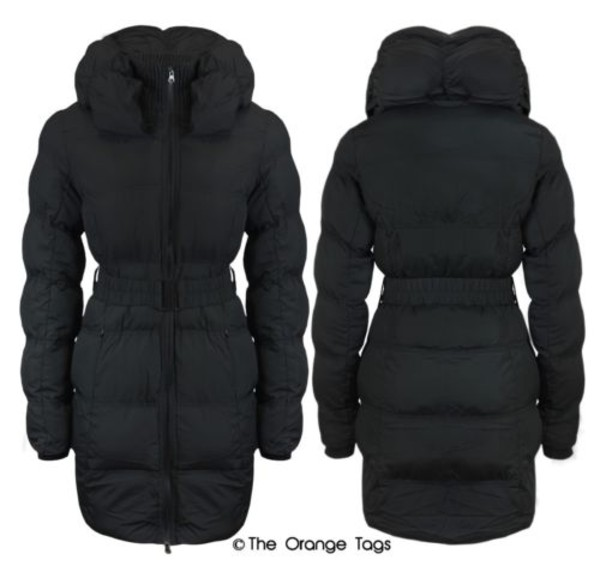 coat jacket black quilted warm winter outfits padded trendy belted coat