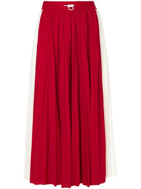 Valentino skirt midi skirt pleated women midi spandex red