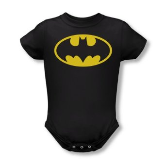 Amazon.com: Batman Classic Logo Black Infant Baby Onesie Romper: Home & Kitchen
