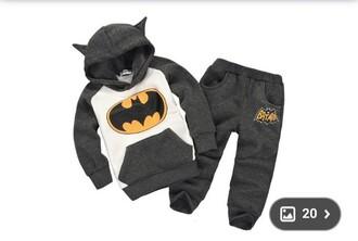 pajamas batman baby boy grey