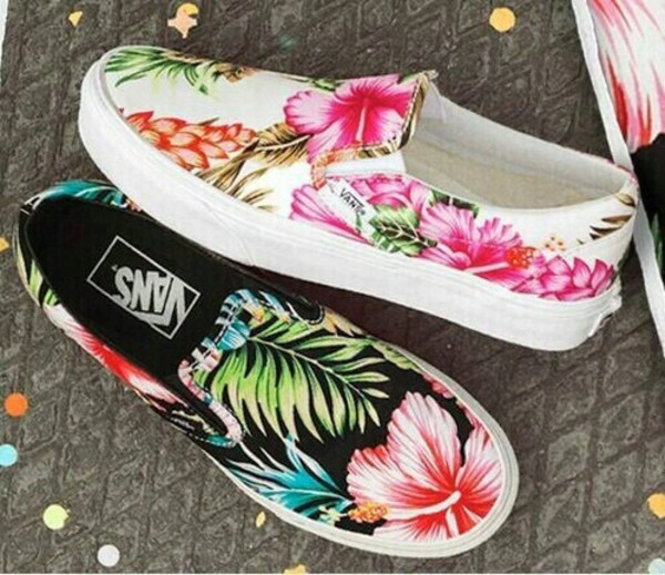 Vans Classic Slip On Hawaiian Floral Black: