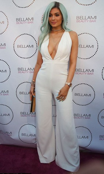 d4bd24a63cf jumpsuit top kylie jenner white pants summer outfits white jumpsuit kendall  and kylie jenner