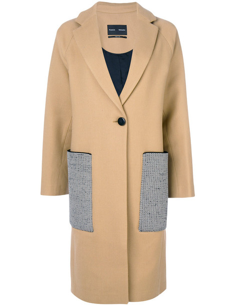 Proenza Schouler coat wool coat long women wool brown