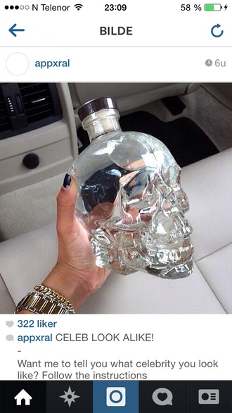 jewels head glass bottle deadhead