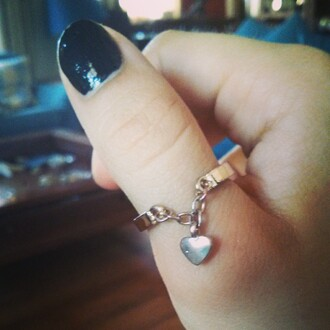jewels jewelry ring heart gold ring knuckle ring jewelery fashion jewelry