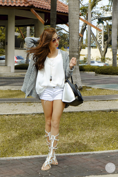 kryzuy shoes sunglasses bag shorts cardigan