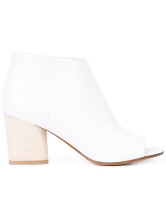 open women boots ankle boots leather white shoes