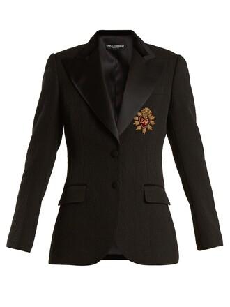 blazer embellished cotton black jacket