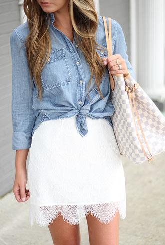 for all things lovely blogger skirt shirt jeans bag shoes tank top sunglasses jewels sweater jacket
