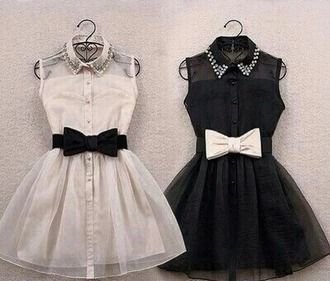 dress black dress white dress bows