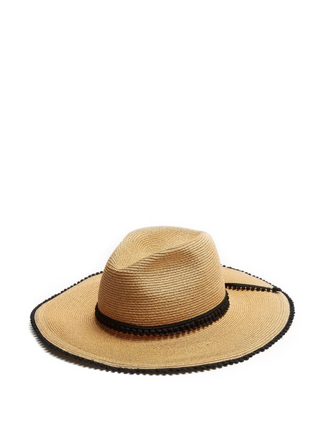 FILÙ HATS hat straw hat black