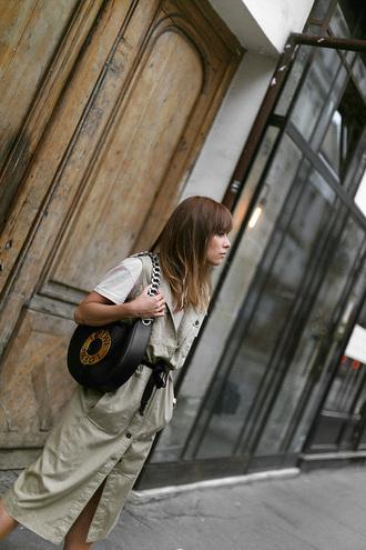 bag vest tumblr loewe bag black bag t-shirt white t-shirt dress midi dress