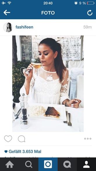 dress white dress beautiful white summer style lace summer dress lace dress white lace dress