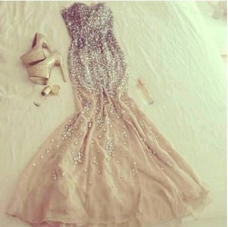 glitter dress glitter mermaid dresses glitter shoes platform shoes nude dress beige dress prom dress