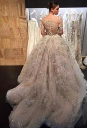 dress,italian,sexy wedding dress,boho,boho chic,wedding dress,all white everything,champagne dress,prom dress,prom,gown,prom gown,wedding,wedding clothes,lace dress,lace,floral,floral dress,flowers,see through,sheer,sexy,sexy dress