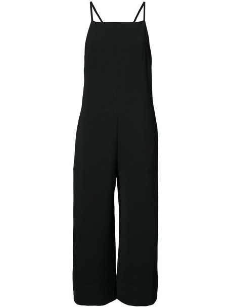 jumpsuit cropped strappy women black