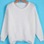 White Long Sleeve Dipped Hem Cable Knit Sweater - Sheinside.com