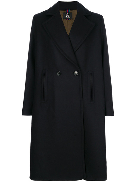 PS By Paul Smith coat double breasted women black wool