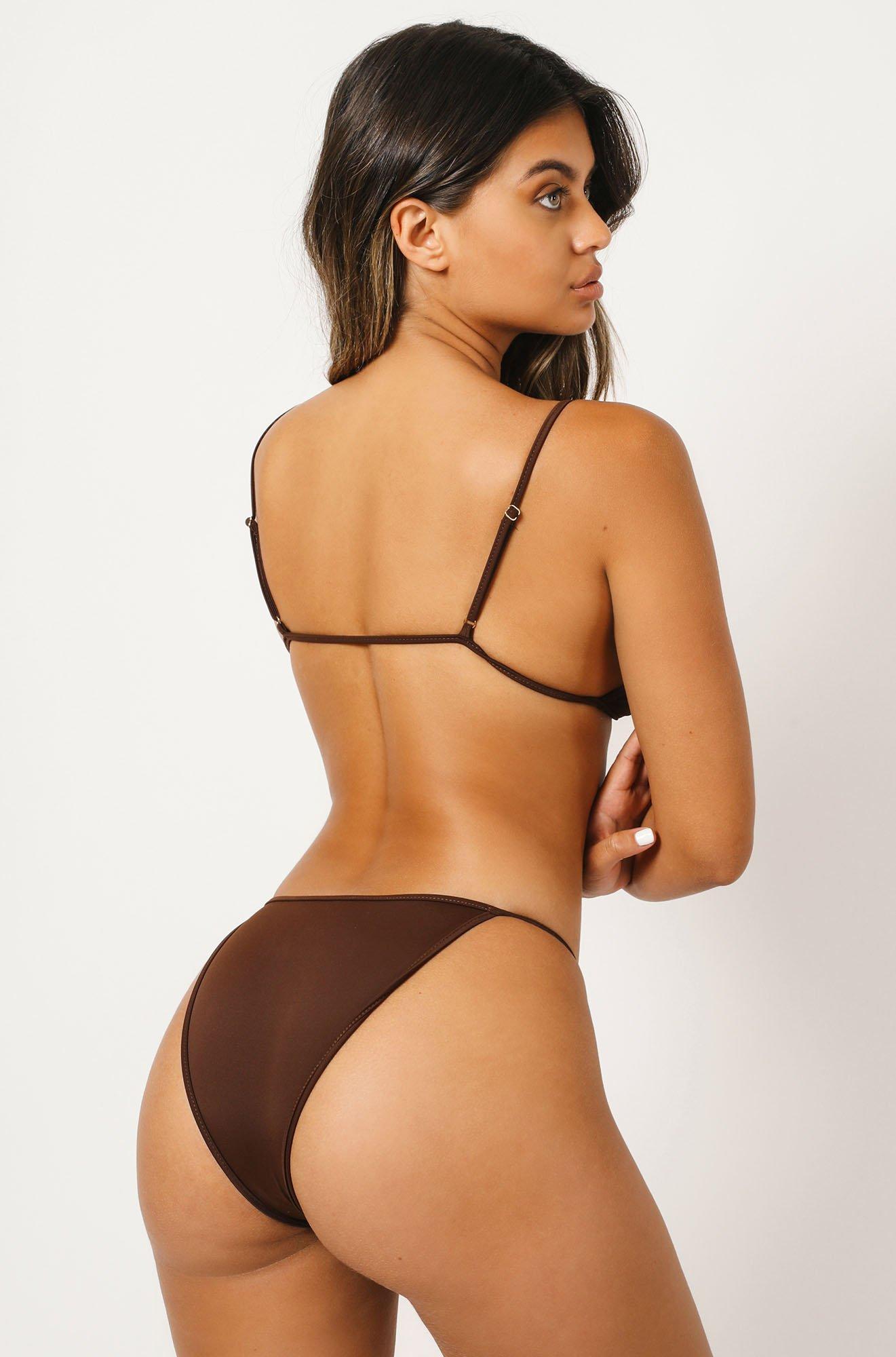 Liv Bikini Bottom in Brown