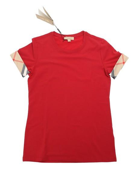 Burberry t-shirt shirt cotton t-shirt t-shirt cotton red top