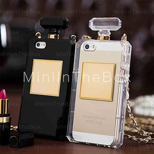 [xmassale]sac unique de bouteille de parfum concevoir un étui souple avec la chaîne pour l'iphone 5/5 ans (couleurs assorties)