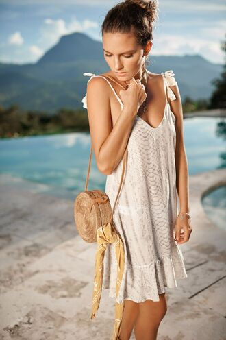 dress cover up snake print dress bikiniluxe