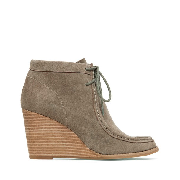 Lucky Brand Ysabel Wedge Bootie - Brindle-8.5