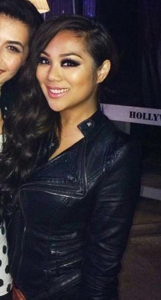 jacket leather jacket blazer leather black