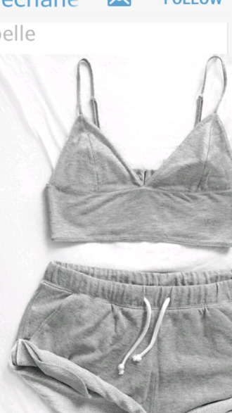 tank top bralette grey underwear gray bodysuit