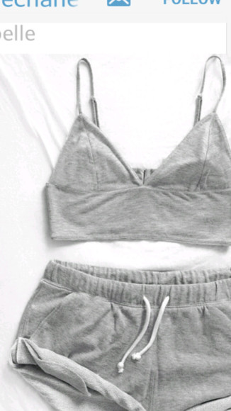 grey underwear tank top gray bodysuit bralette