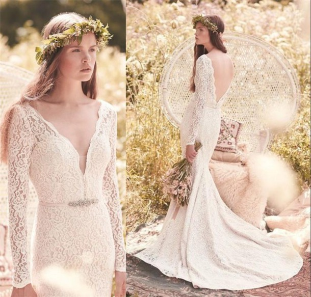 Dress 2016 mikaella bridal long sleeve wedding dress for Grecian wedding dress with sleeves