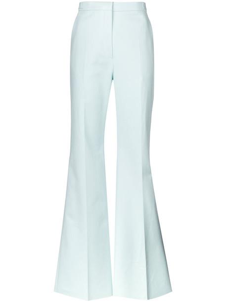 Rochas women spandex cotton blue pants