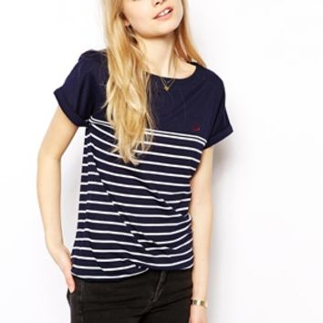 Fred Perry Roll Sleeve Stripe T-Shirt on Wanelo