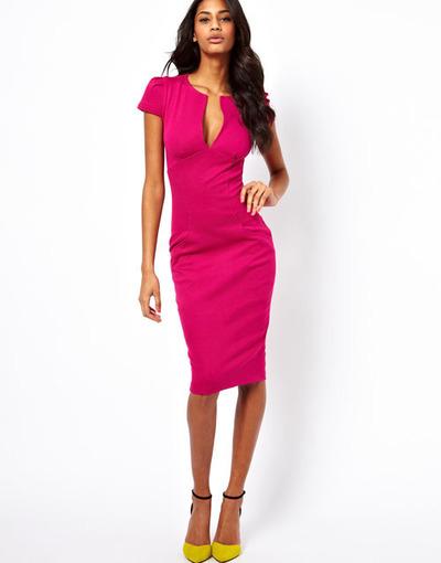 I'm Bossy Pencil Dress - Pink - Mint & Pink