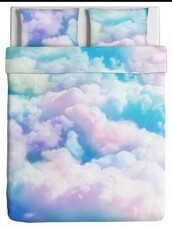 home accessory,bedding,clouds,romantic,watercolour,doona cover