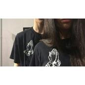 t-shirt,tumblr girl,tumblr,drake clothing,pray hands