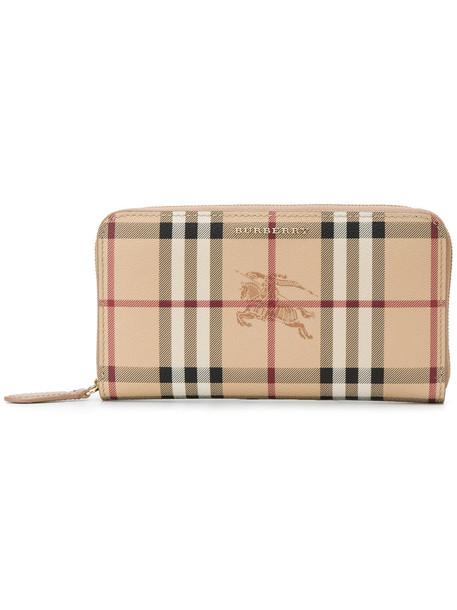Burberry women purse nude cotton bag
