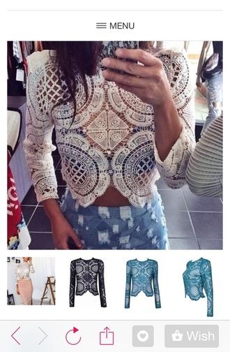 blouse lace blouse lace top lace shirt fancy lace crochet top crochet shirt croshet crochet blouse