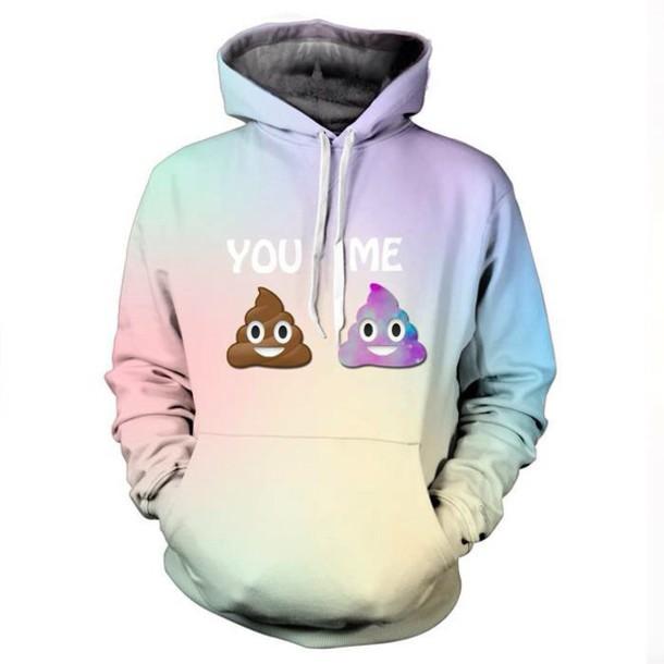 sweater emoji pants top amazing kawaii hoodie t-shirt pastel goth pale fashion girly style outfit dope sweatshirt cool jacket tie dye rose wholesale pastel