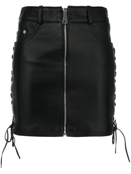 Manokhi skirt mini skirt mini women daisy leather black